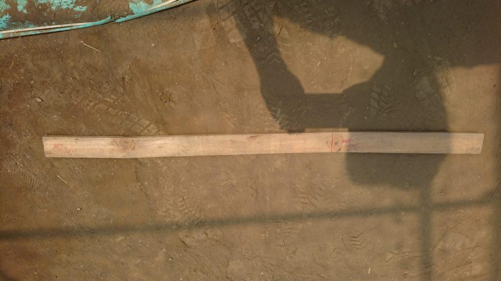 長さを測るのに便利な板