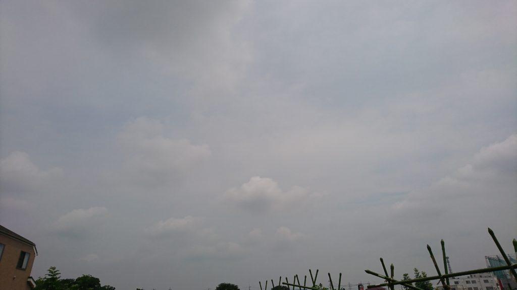 雲の多い天気