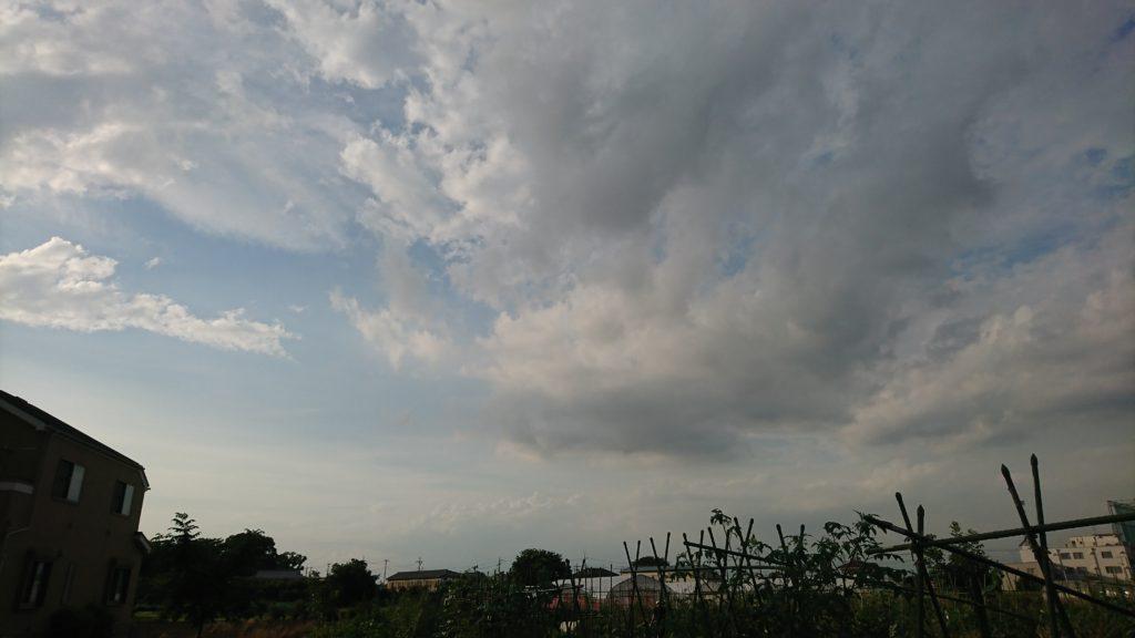 雲の多い夕方